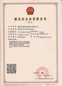 企业资质证书-王洪斐